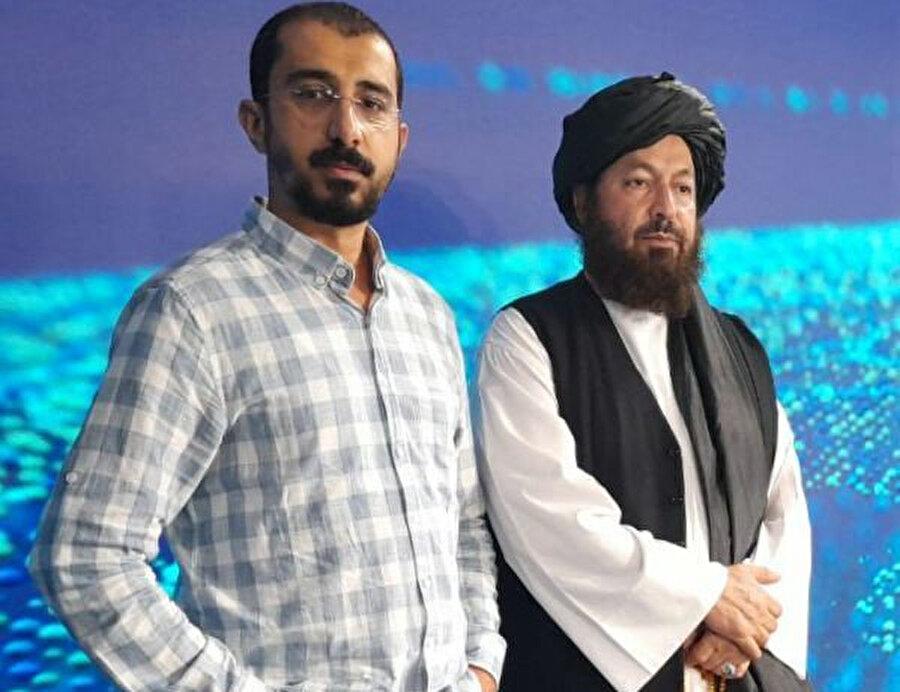 Türkiye ziyareti esnasında kendisiyle röportaj yaptığımız Afgan Ulusal Barış Konseyi Başkanı Muhammed Dâvud Âbidî (sağda) ve röportajı gerçekleştiren arkadaşımız Yusuf Sami Kamadan (solda).