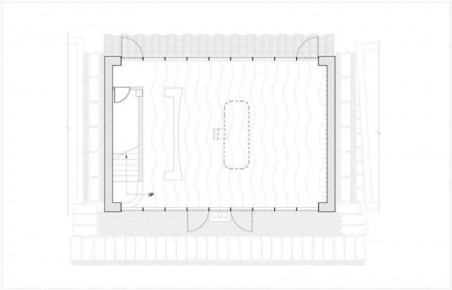 Yapının zemin kat planı.