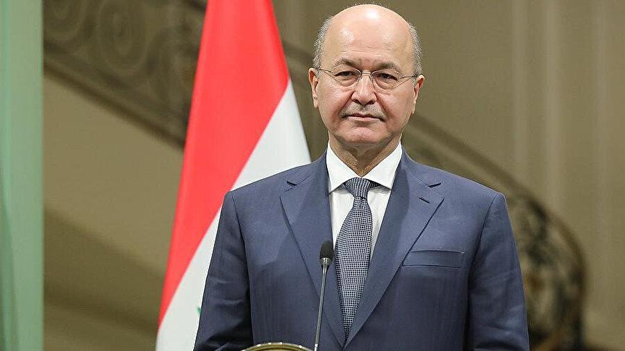 Irak'ın mevcut cumhurbaşkanı Berhem Salih.