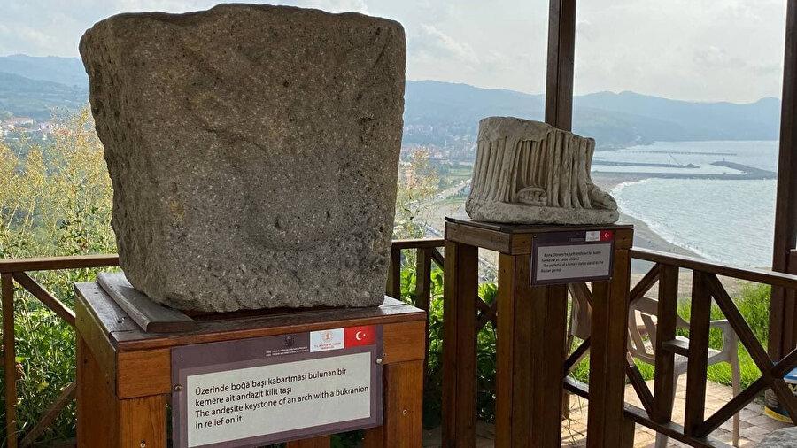Filyos'da antik kente ait buluntu.