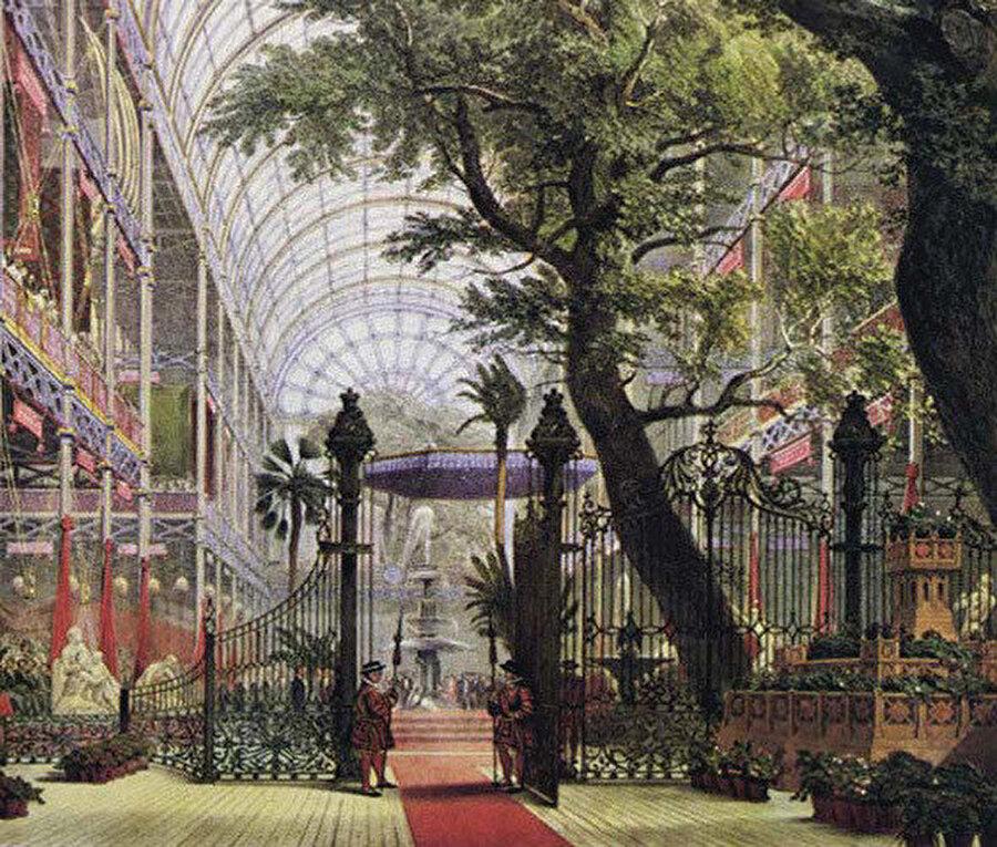 1851 Londra Dünya fuarı Kristal Saray'dan etkilenen Howard, bahçe-şehrinde burayı günümüz kapalı alışveriş merkezleri gibi tasavvur etmiştir.