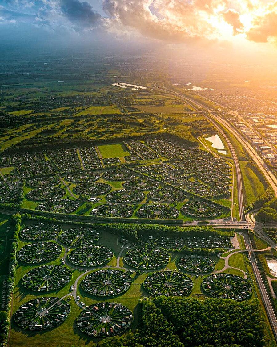 Henry Do'nun çekmiş olduğu hava fotoğrafı Brøndby Garden City.