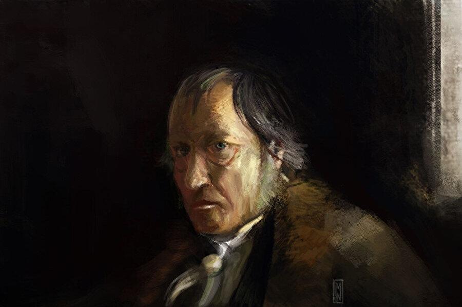 """Hegel """"tutkusuz hiçbir büyük işin yapılmadığı"""" nı söylerken Büyük İskender'den Sezar'a örnekler verir, asla hiçbir şeyi dizginlememek gerektiğini belirterek..."""
