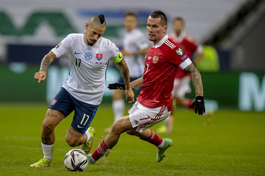 Hamsik Slovak Milli Takımında 2022 Dünya Kupası Elemelerinde Hırvatistan'a karşı