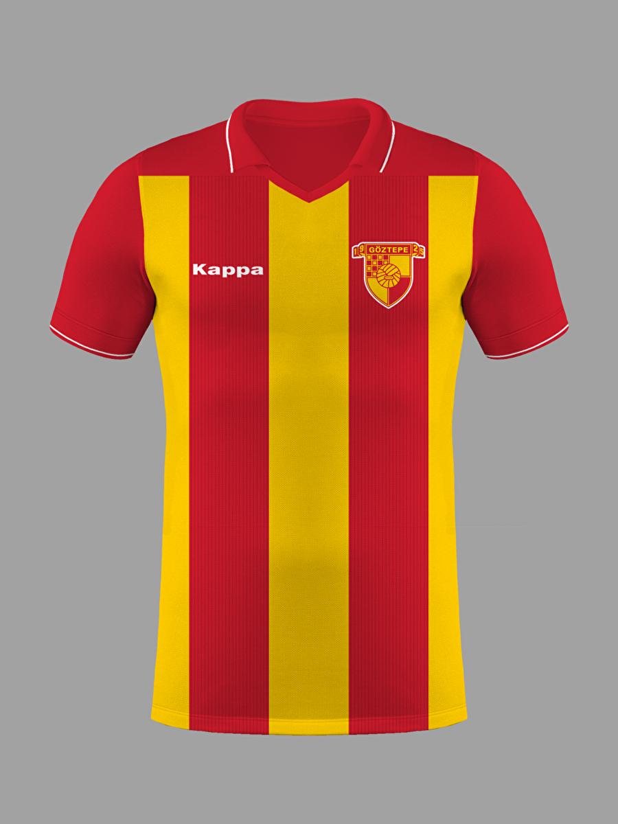 Göztepe Göztepe Kulübü, 14 Haziran 1925'te İzmir'de kuruldu. Kulübün ilk logosunda sarı-kırmızı zeminin üzerinde yalnızca futbol topu bulunuyordu. Diğer branş kaptanlarının tepki göstermesinin ardından, armanın sol üst köşesine branşları simgeleyen bir kareler eklenmiştir.