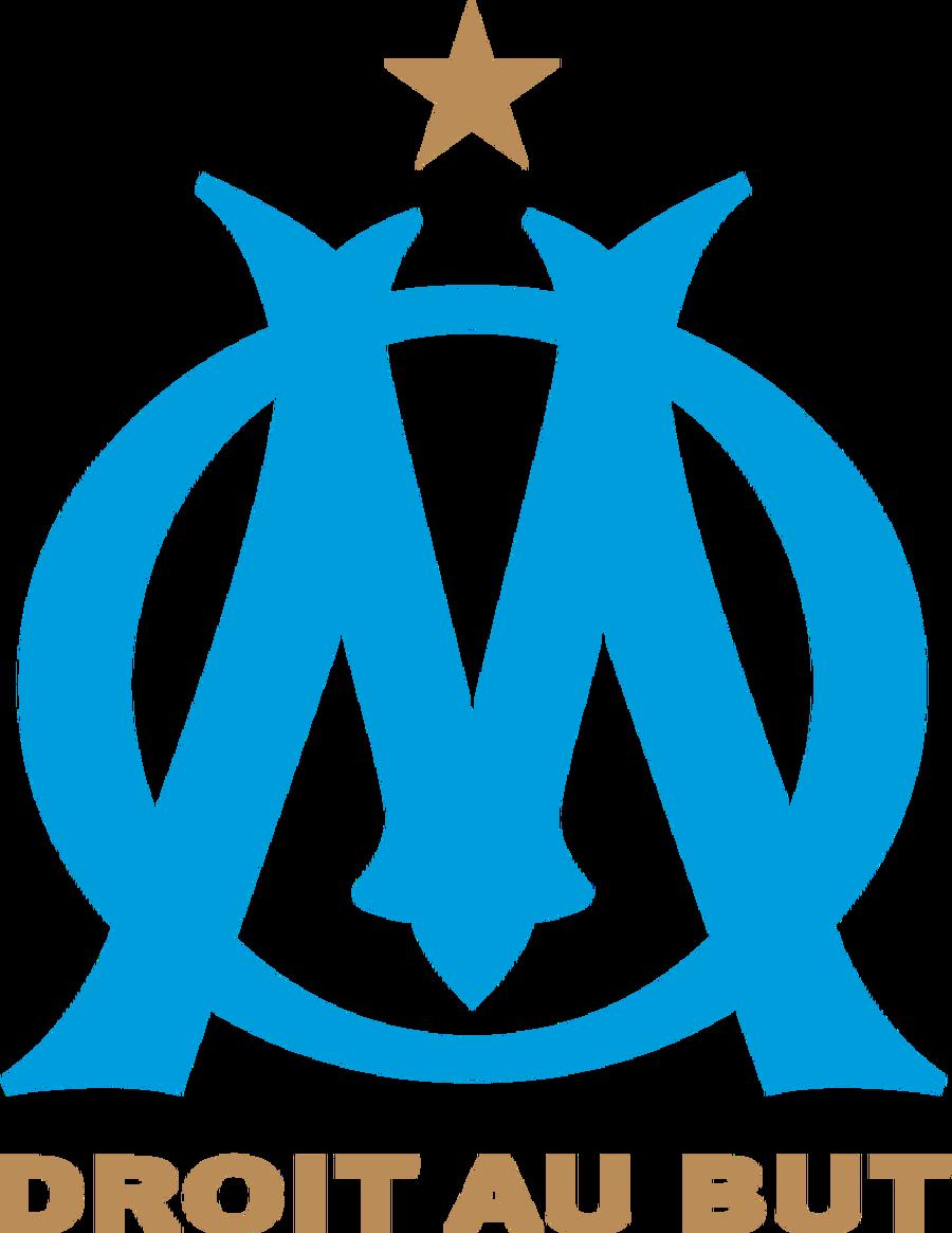 Marsilya Fransız kulübü 1899'da kuruldu. Kulübün ilk logosunda, kulübün kurucusu Rene Dufaure Montmirail isminin D ve M harflerinin kullanıldığı bir tasarım yapıldı. Logo 1935 ve 1972 yıllarında değiştirilmiş. Logodaki yıldız ise 1993'te kazanılan UEFA Şampiyonlar Ligi'ni temsil ediyor. 17 Şubat 2004'te ise O ve M harfleri tek renk ve slogan logonun ortasında kaldırılarak logonun alt tarafına yerleştirildi.