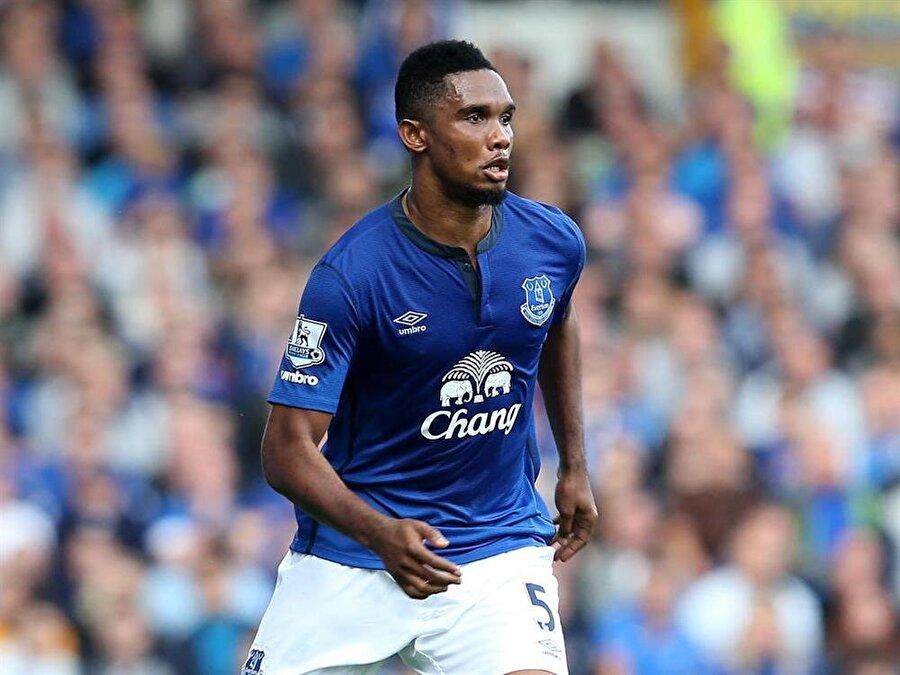 20 maç 4 gol Yarım sezon Everton'da top koşturan Eto'o 20 maçta 4 gol attı.