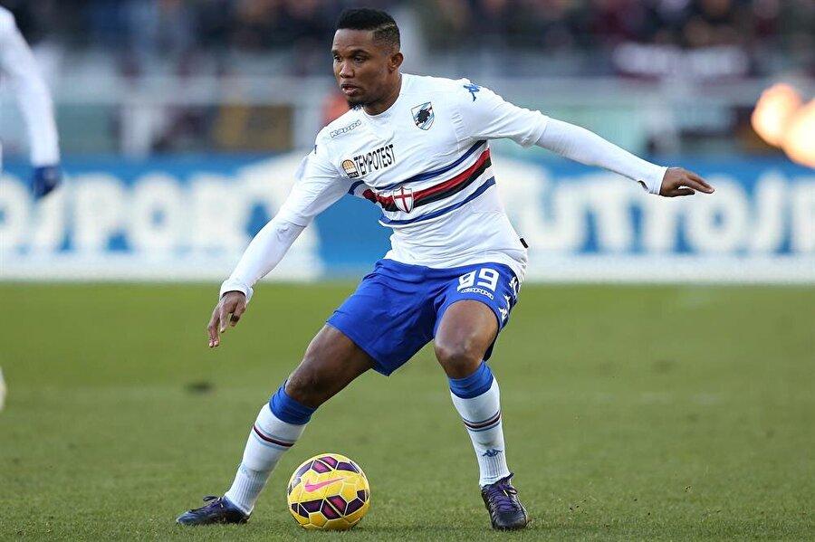 Yeniden İtalya macerası Eto'o 25 Ocak 2015'te Everton'dan Sampdoria'ya transfer oldu. İtalyan ekibinde 18 maça çıkan Kamerunlu 2 gol attı.