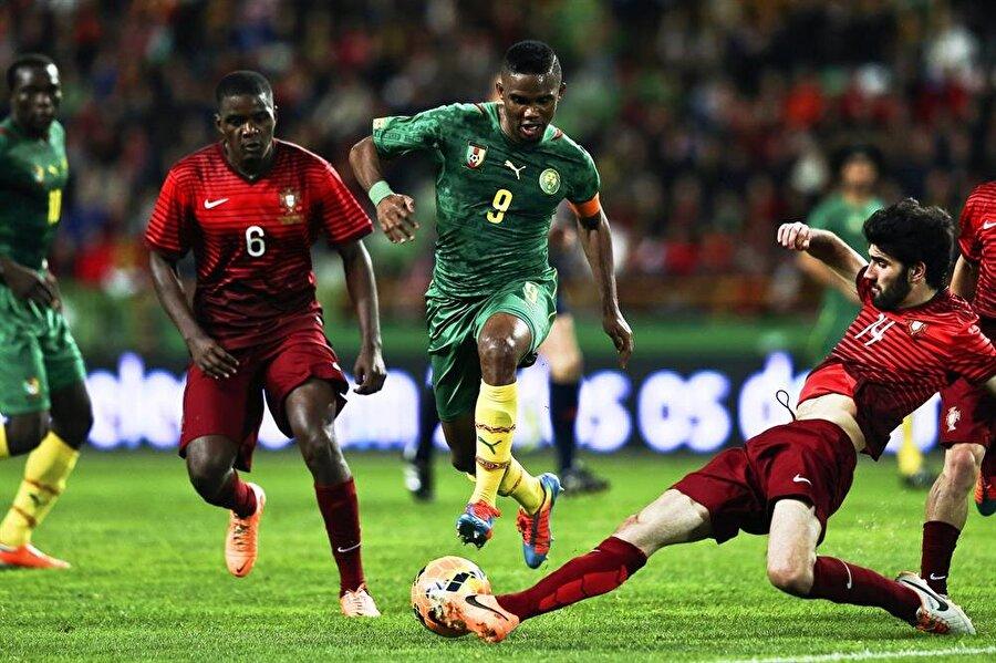 Kamerun'un en golcüsü Aynı zamanda Eto'o attığı 55 golle, Kamerun Milli Takımı tarihinin en golcü oyuncusudur.