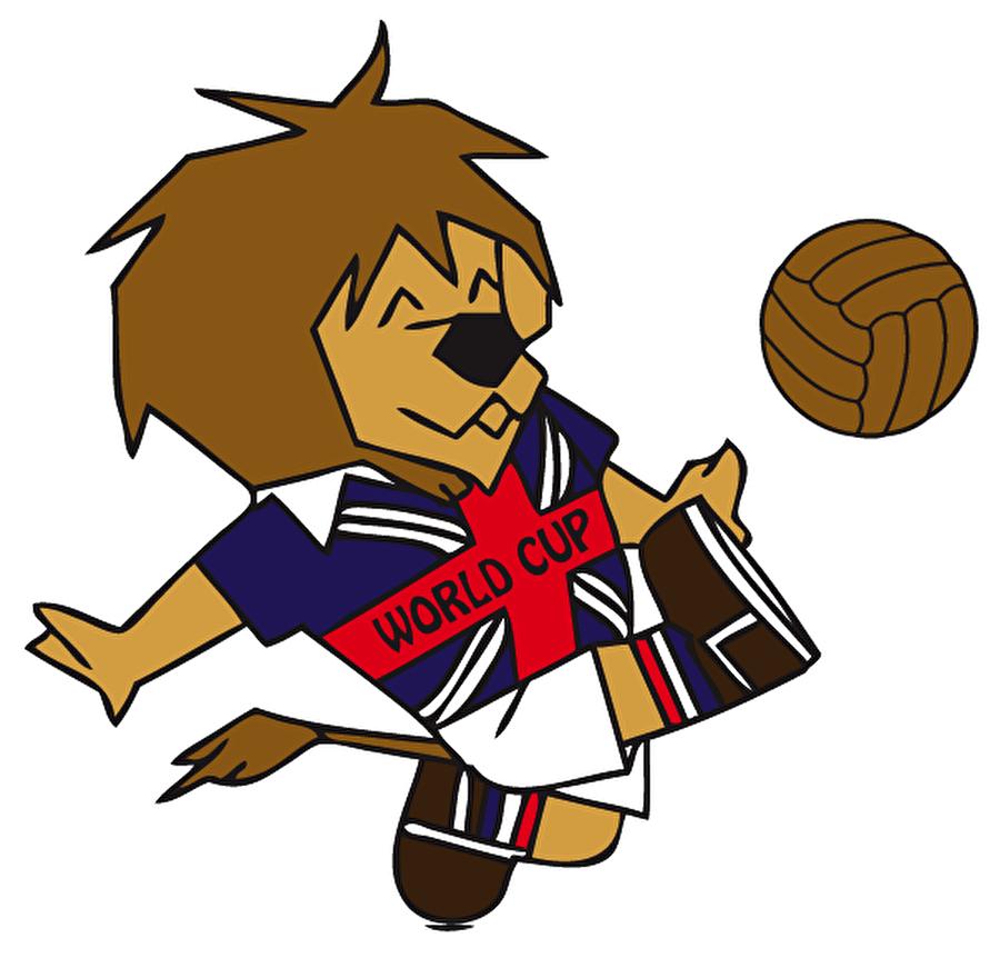 İlk maskot Willie Bu özel turnuvaya 1966 yılında İngiltere ev sahipliği yaptı. Ada'da yapılan şampiyona öncesinde ilk kez Dünya Kupası organizasyonu için bir maskot belirlendi. Willie isimli aslan, Dünya Kupası tarihinin ilk maskotudur. Aslan, İngiltere'nin en eski simgelerinden biridir. Aslanın üzerinde ise Britanya bayraklı bir tişört bulunuyordu. Dünya Kupası'nı da ev sahibi İngiltere almıştı.