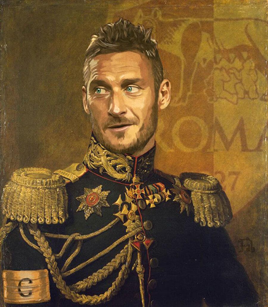 Francesco Totti                                      Roma denildiği zaman akla hiç kuşkusuz ilk önce O'nun adı gelir.
