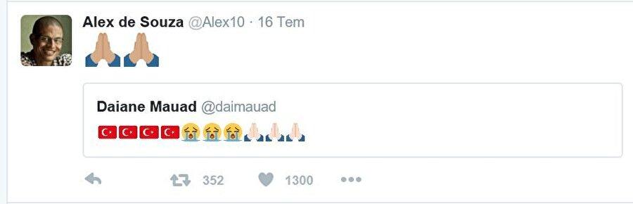 8 yıl boyunca Fenerbahçe forması giyen Alex de Souza, olayların ardından mesaj yayınladı.