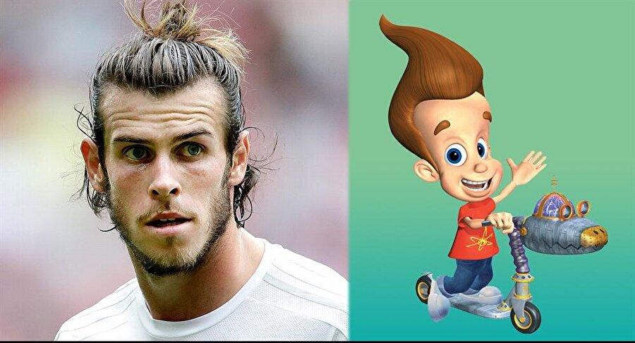 Gareth Bale / Jimmy Neutron                                                                           2001 yılında ABD'de yayınlanmaya başlanan 'Jimmy Neutron' isimli çizgi filmin ana karakteri adeta Real Madrid'in Galli futbolcusu Bale'den ilham alınarak çizilmiş. Ancak Bale, 2001 yılında 15 yaşındaydı ve Southampton altyapısında top koşturuyordu.
