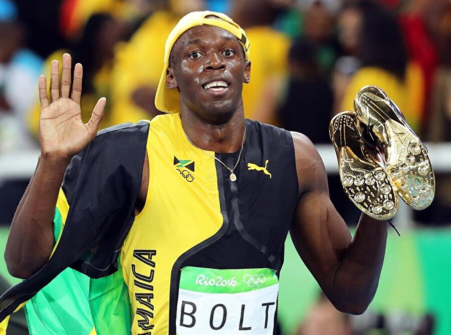 Rio'da tarihe geçti                                                                                                                Rio 2016'da erkekler 100 metre finalini 9.80 ile kazanan Bolt adını tarihe yazdırdı. Bolt, olimpiyatlarda 7. altın madalyasını kazandı. 2008 Pekin ve 2012 Londra Olimpiyatları'nın ardından 100 metrede altın madalya kazanan Bolt tarihte bunu başarabilen ilk sprinter oldu.