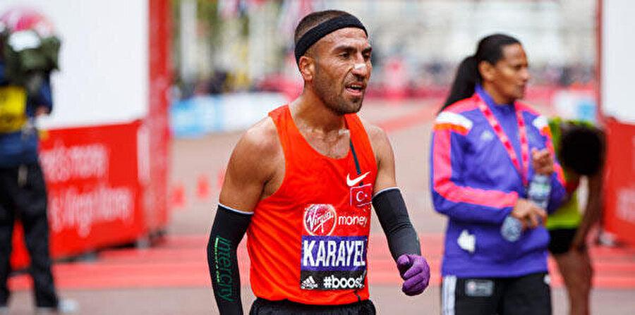 Bekir Karayel 126. oldu Atletizmde Türkiye'yi temsil eden Bekir Karayel, Ercan Muslu ve Kaan Kigen Özbilen dün maraton finalinde yarıştı. Özbilen 2:14:11'lik süresiyle 17'nci, Muslu 2:18:40'lık zamanıyla 51'inci, Karayel ise 2:31:27'lik derecesiyle 126'ncı olarak Rio'dan elendi.