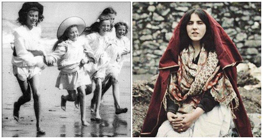İskoçya ve İrlanda                                      Sağdaki geleneksel elbiseli 14 yaşındaki bir kızı gösteren fotoğraf, 1913 civarında çekildiği düşünülüyor ve şimdiye kadar İrlanda'da çekilen ilk renkli fotoğraflardan biridir.