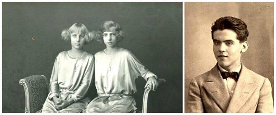 İspanya                                      Soldaki fotoğrafta iki genç kız Maria-Christina ve Beatrice bulunuyor.  Sağdaki fotoğrafta İspanyol şair, 16 yaşındaki Federico Garcia Lorca.