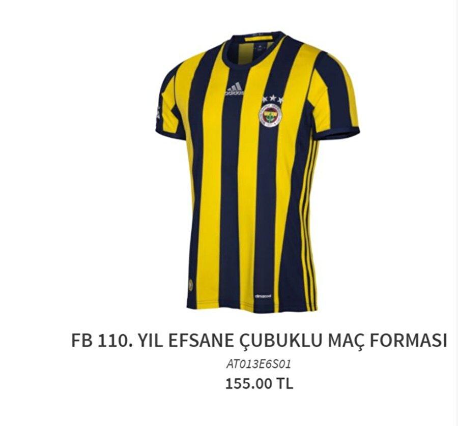 Fenerbahçe 2016-2017 sezonuna 4. yıldız hedefiyle başlayan Fenerbahçe'nin forma fiyatı 155 lira.
