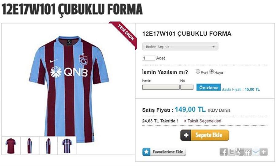 Trabzonspor Trabzonspor'a gönül verenler, yeni sezon forması için 149 lira ödemek durumunda.
