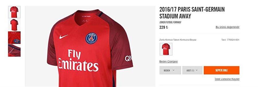 Paris Saint-Germain Arap sermayesine satıldıktan sonra PSG, ciddi bir yükselişe geçti. Yaptığı transferlerle dikkat çeken Fransız ekibinin 2016-2017 sezonu formasını Türkiye'de 229 liraya satın alabilirsiniz.