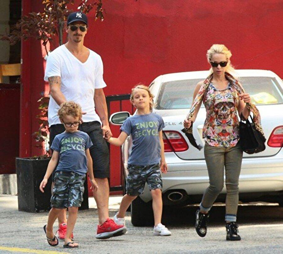 Zlatan Ibrahimović Manchester United'lı Zlatan Ibrahimović'in oğulları Maximilian ve Vincet de babaları gibi futbol oynuyor.