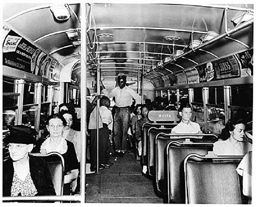 Amerika'da bir zamanlar siyahi insanlar otobüslerde beyaz insanlara yer vermek zorundaydı.