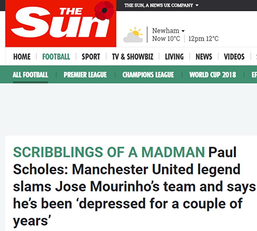 The Sun                                      The Sun, Wayne Rooney'nin son dakikalarda attığı golün, Manchester United'ın Fenerbahçe'ye yenilmemesi için yeterli olmadığını yazdı.