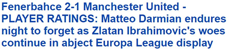 Daily Mail                                      Daily Mail, Mourinho dostça bir maç oynadıklarını söylüyor. Önündeki kızgın boğayı bile görmemiş...