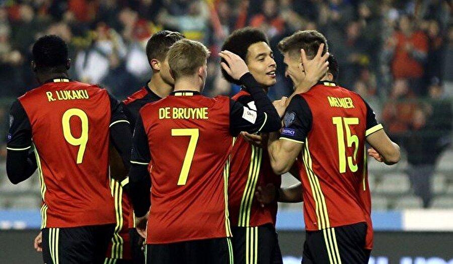 Belçika'ya galibiyeti getiren golleri 8'de Meunier, 16 ve 68'de Mertens, 25'te Hazard, 62'de Carrasco, 64'te Klavan (kk), 83 ve 88'de Lukaku kaydetti. Estonya'nın tek sayısı 29'da Anier'den geldi.