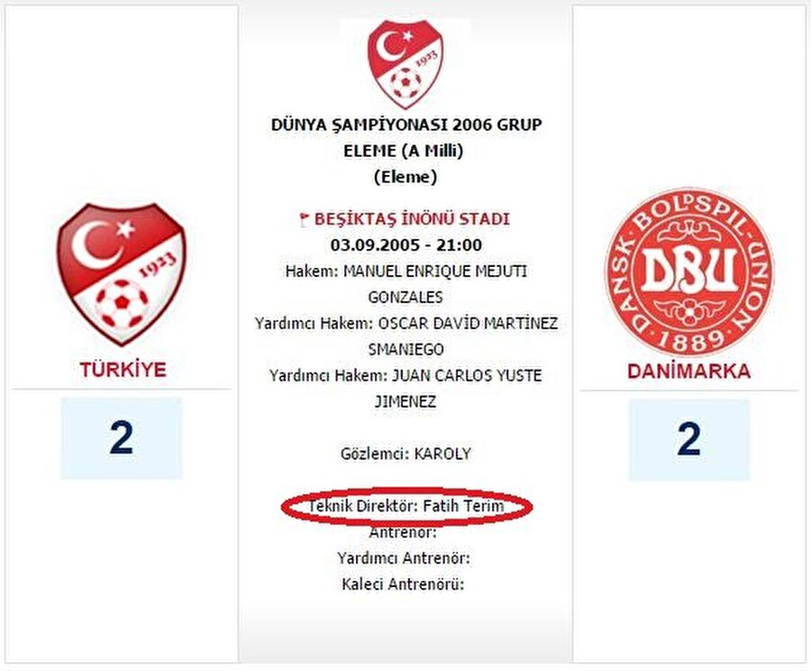 """Fatih Terim'in yanlış hatırladığı bilginin doğrusu ise Volkan Demirel'in """"ilk resmi maçına"""" Fatih Terim yönetiminde çıkmış olması."""