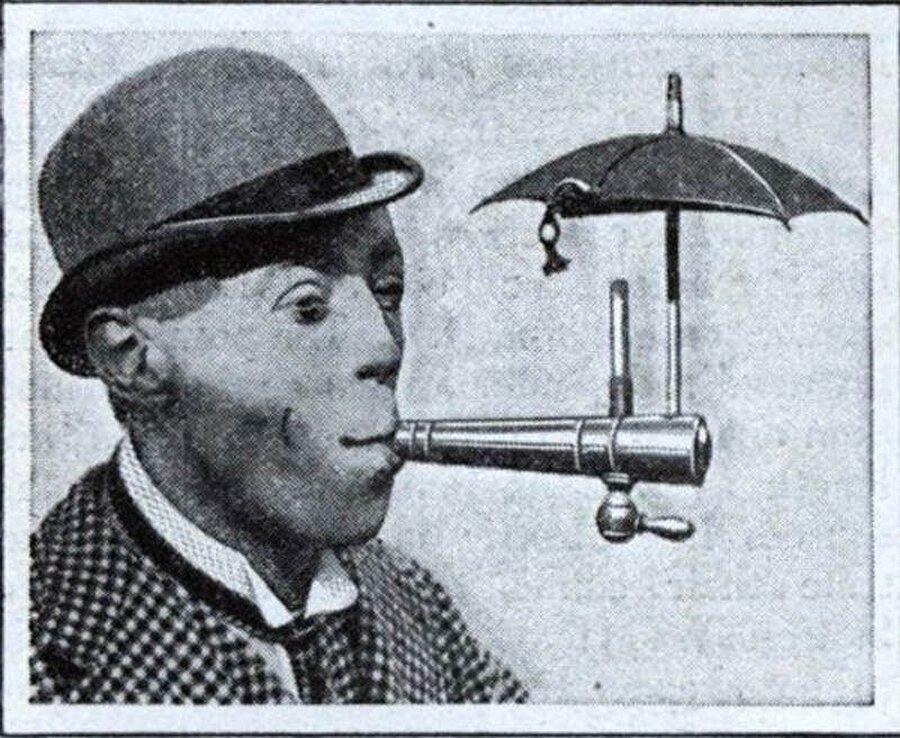 Yağmurda sigara içebilmenizi sağlayan bir sistem
