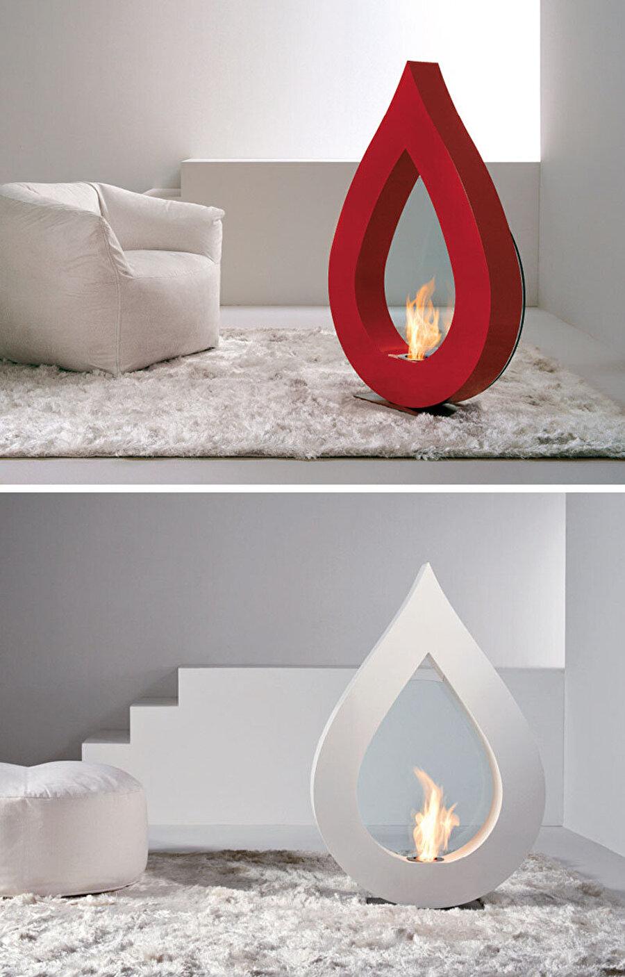 Sanatsal bir heykel değil, şömine                                                                                                                                                     Sanatsal bir heykele benzeyen bu tasarım, odanıza oldukça modern bir hava katacak.