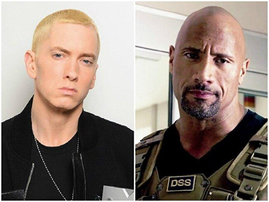 Eminem ve Dwayne Johnson — Her ikisi de 44 yaşında