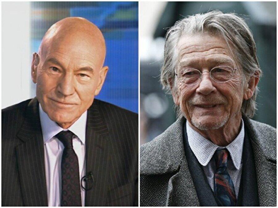 Patrick Stewart ve John Hurt — Her ikisi de 76 yaşında