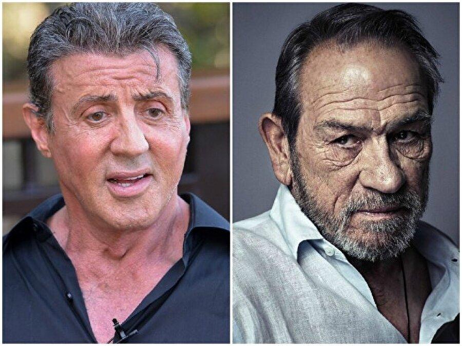 Sylvester Stallone ve Tommy Lee Jones — Her ikisi de 70 yaşında