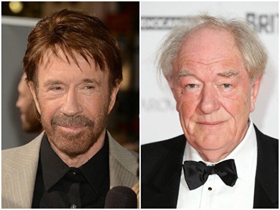 Chuck Norris ve Michael Gambon — Her ikisi de 76 yaşında