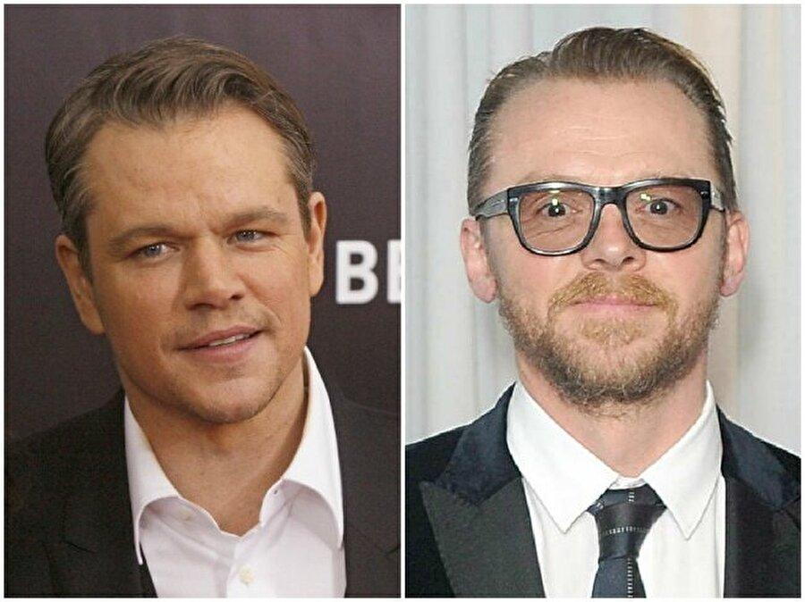 Matt Damon ve Simon Pegg — Her ikisi de 46 yaşında