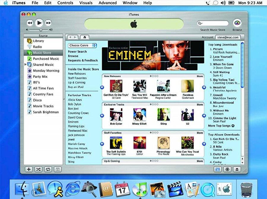 2003 yılında iPod'u farklı bir noktaya konumlandırmak isteyen Jobs, ücretli içerik satın alınabilecek iTunes Müzik Mağazası'nı hayata geçirdi.