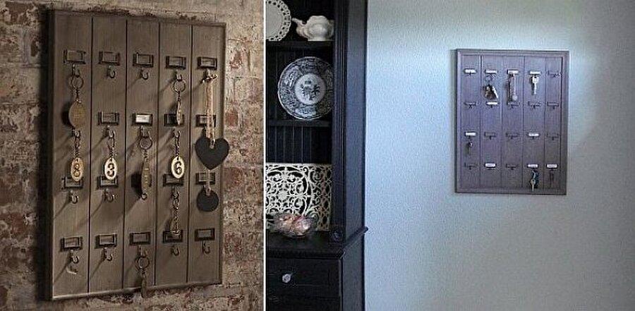 Vintage dokunuşlar                                                                           Geleneksel görünümlü bu anahtarlık ile ev dekorasyonuna vintage bir hava katabilirsiniz. Özellikle otellerde tercih edilebilecek bu anahtarlıklara numara verip renk de ekleyebilirsiniz.