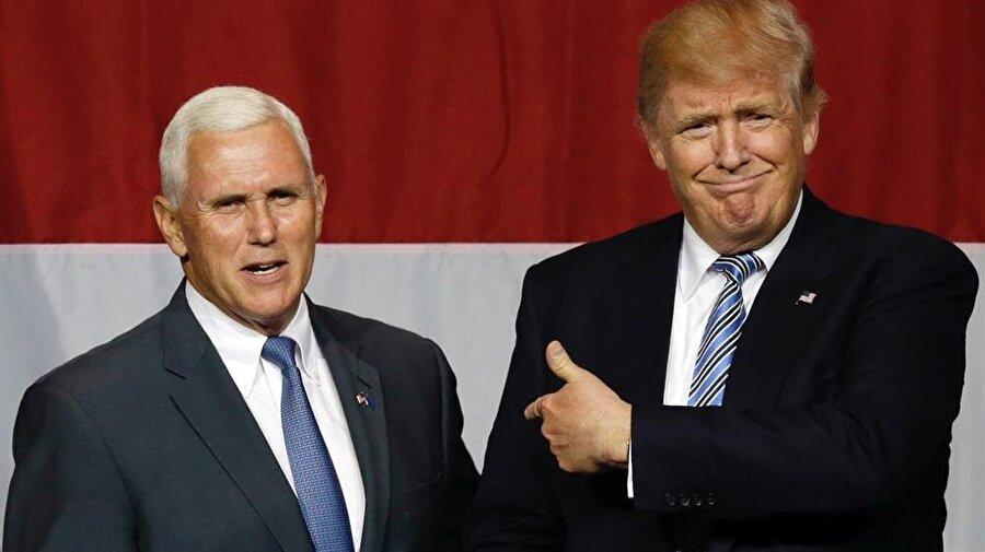 Mike Pence - Başkan Yardımcısı                                      Eski İndiana valisi. 15 yıllık siyasi deneyimi var. Valilik görevi sırasındaki en tartışmalı konu, dini özgürlük yasası oldu. Mike Pence, Evangelist görüşleriyle tanınıyor. Irak'ın ABD tarafından işgalini kuvvetli bir biçimde desteklemişti. Seçim kampanyası sırasında Türkiye ile ilişkileri geliştirmekten yana olduğunu söylemişti.