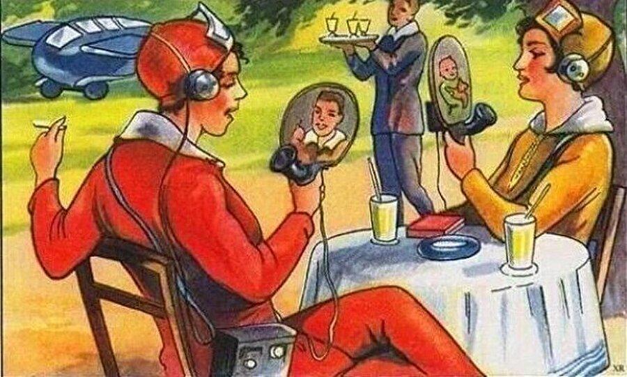 Fransız sanatçılarının 1924'te gelecek teknolojisini düşünerek yaptıkları eser. Çok da yanılmamışlar sanki?