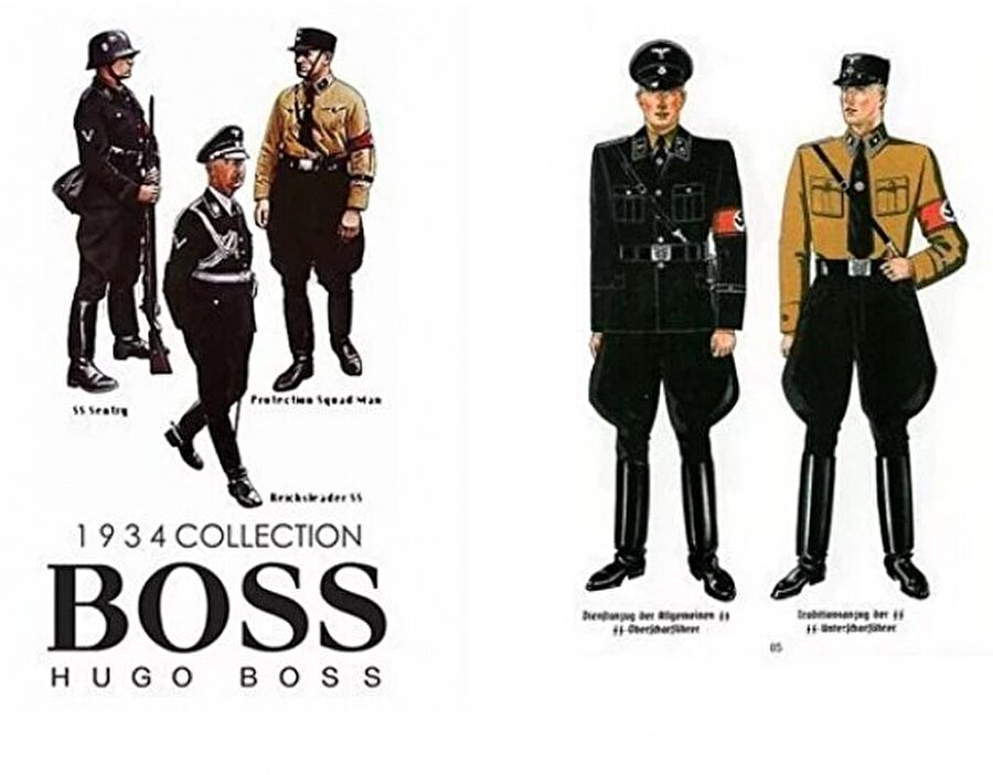 Ünlü moda devi Hugo Boss'un tasarımını üstlendiği Nazi üniformaları