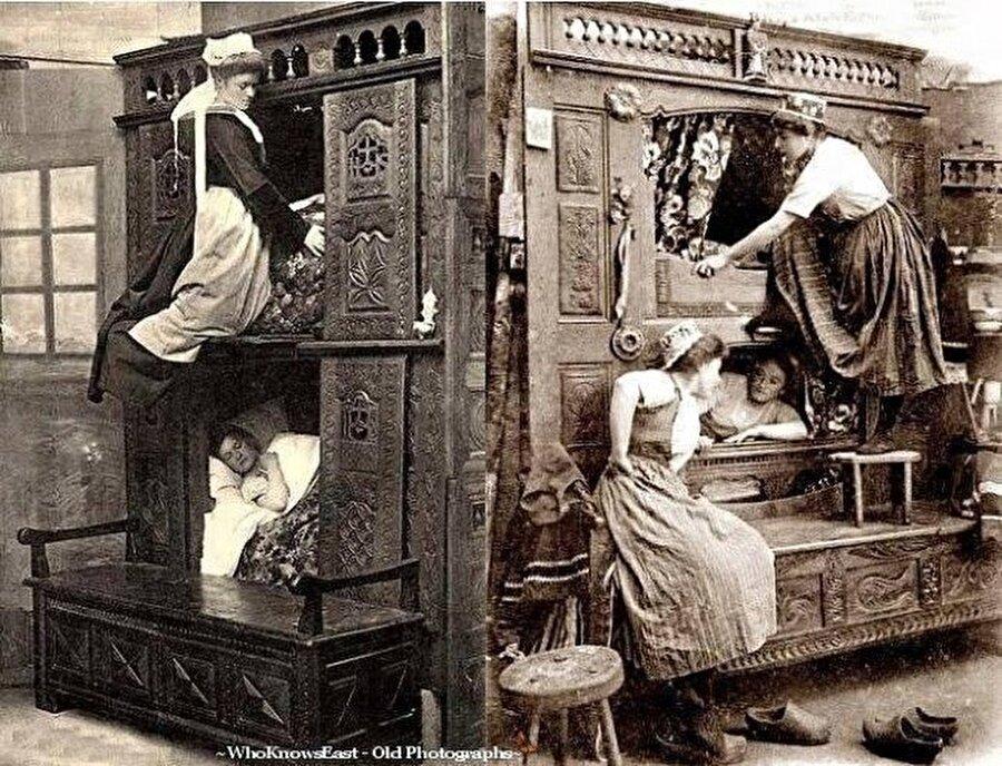Hizmetçiler için yatak odası, 1843 İngiltere