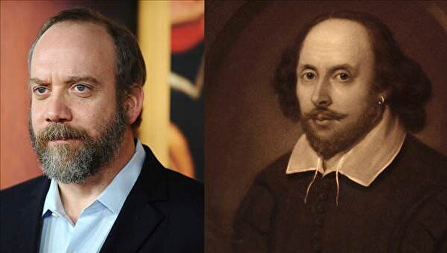 Paul Giamatti - William Shakespeare                                      Kanaatimizce Paul Giamatti'nin bir benzeri de Türk aktör Halit Ergenç olabilir.