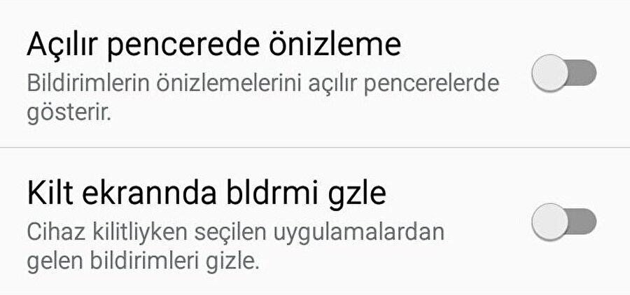 Android'de WhatsApp mesajlarının bildirim ekranında gözükmesi nasıl engellenir?                                                                                                                                                                                                                               Android'de WhatsApp mesajlarının bildirim ekranında gözükmesini engellemek için Ayarlar > Uygulamalar > WhatsApp > Bildirimler yolu üzerinden seçenekleri pasif hale getirmek kâfi.