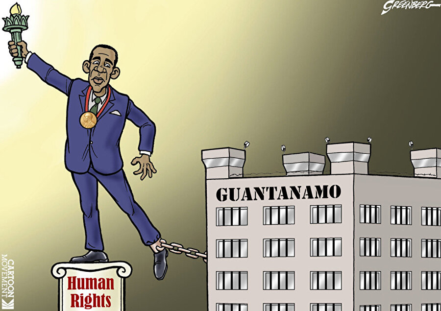 Obama seçim öncesi verdiği vaadini yerine getirmedi                                                                           ABD'nin bir önceki başkanı Barack Obama, başkanlığı devralmadan önce Guantanamo'yu kapatacağını vaat etmişti. Başkan seçildikten sonra bu vaadini yerine getirmeyen Obama, cezaevindeki insanlık dramına sessiz kaldı.