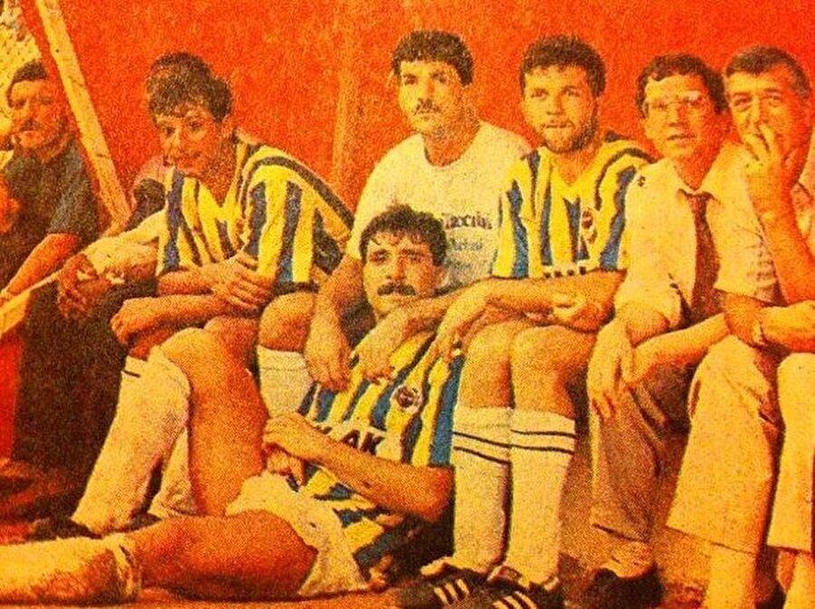 1991-92 / İsmail Kartal, Neşhet Muharrem, Müjdat Yetkiner, Aykut Kocaman, Aziz Yıldırım, Ercan Aktuna (Fenerbahçe)