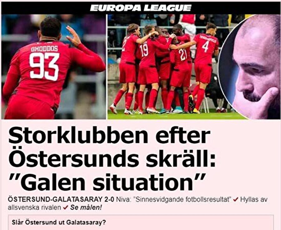 Aftonbladet: Östersunds %68 turu geçer  Aftonbladet internet sitesinde maçın ardından anket düzenlendi. İsveçli futbolseverlerin ilk maçın skorundan sonra bir hayli umutlandıkları görüldü. 37 bin kişinin oy kullandığı ankette katılımcıların yüzde 68'i 'Östersunds turu geçer' seçeneğini işaretledi.Kaynak:internethaber