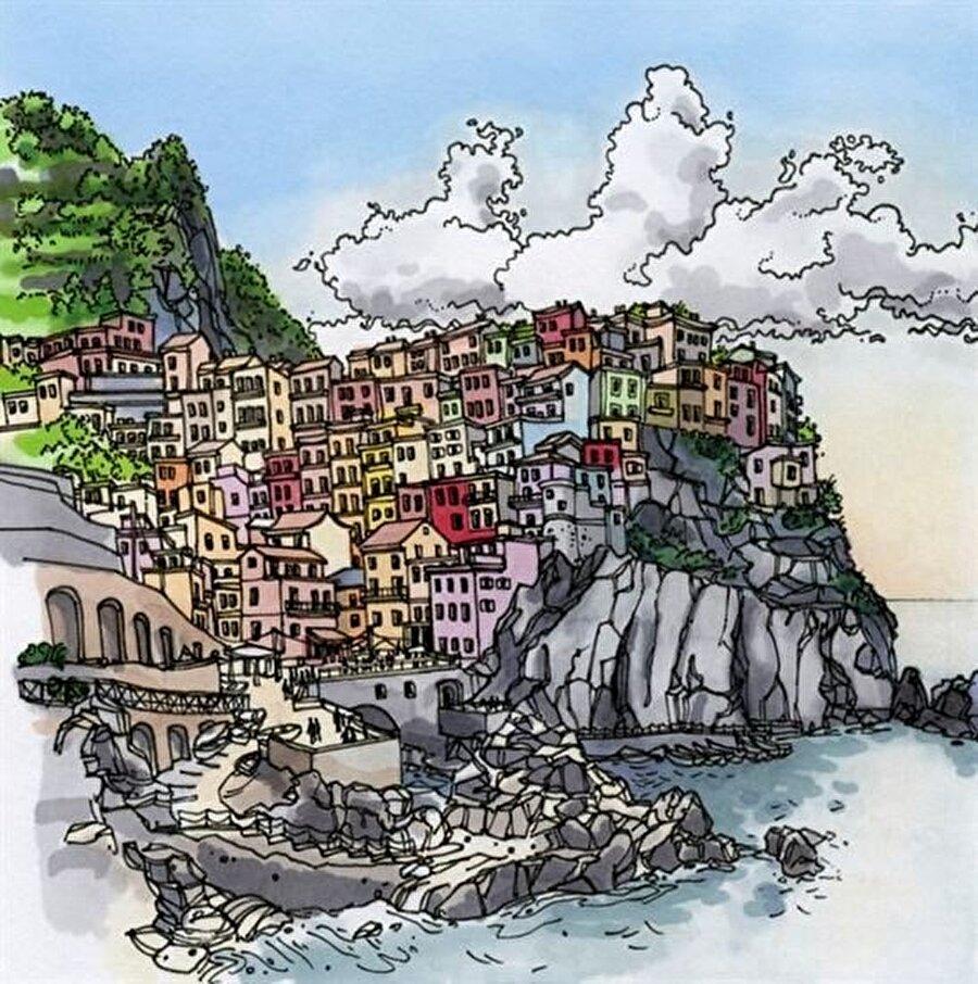 Manarola, İtalya                                                                           Bir İtalyan kenti olan Manarola, renkli yapısı ve mistik dokusuyla kendisine hayran bırakıyor.