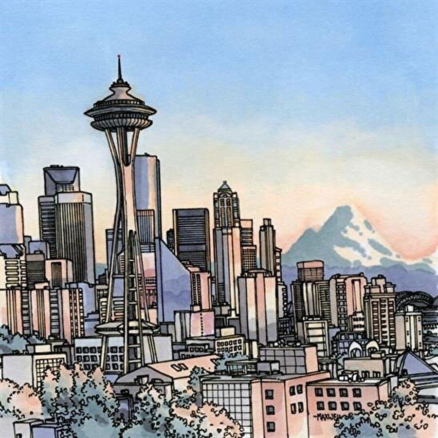 Seattle, ABD                                                                           Bir Amerika şehri olan Seattle, Prag'ın tam aksine modern yapısı ve büyük gökdelenleriyle dikkat çekiyor.